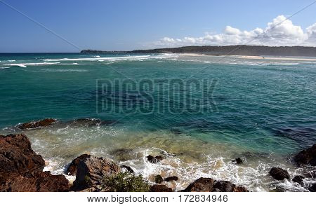 Beach at the Tuross Head. Tuross Head is a seaside village on the south coast of New South Wales Australia.