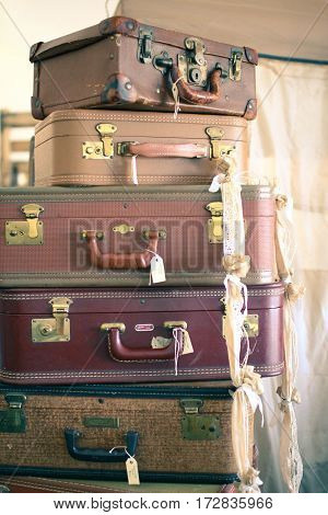 Vintage Suitcases Perfect for the Wanderer at Heart