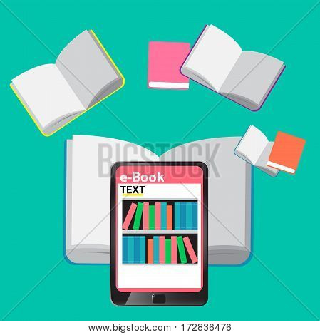 Digital Library E-books in tablet for education and learning