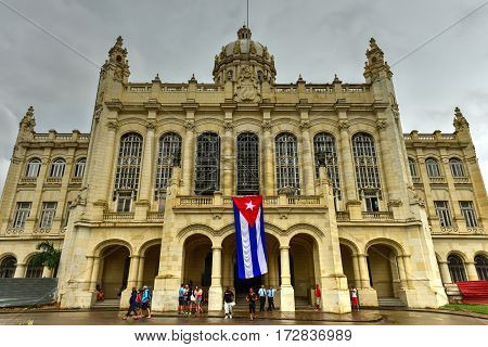 Havana Cuba - January 7 2017: Museum of the Revolution in Havana. The palace was the headquarters of the Cuban government for 40 years.