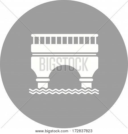 Bridge, road, highway icon vector image. Can also be used for town. Suitable for web apps, mobile apps and print media.