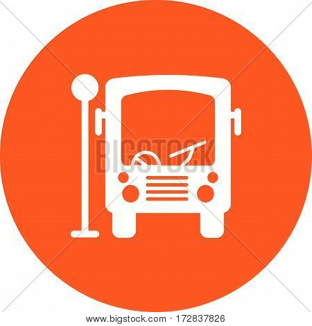 Bus, stop, city icon vector image.Can also be used for town. Suitable for web apps, mobile apps and print media.