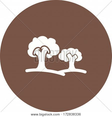 Trees, nature, forest icon vector image. Can also be used for town. Suitable for mobile apps, web apps and print media.