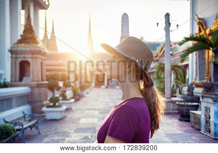Tourist In The Temple In Bangkok