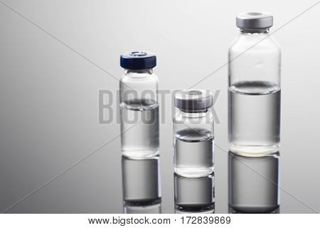 Medicine in vials ready for vaccine injection Cancer Treatment Pain Treatment and can also be abused for an illegal use