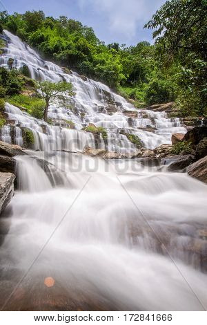 Mae Ya waterfall in Doi Inthanon national park Chiang Mai Thailand