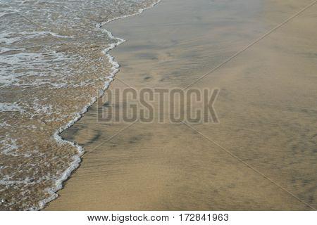 Sand and sea in Fuerteventura, Spain
