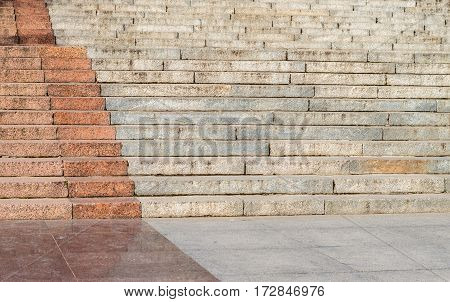 the big old Granite stairs steps background