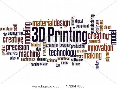 3D Printing, Word Cloud Concept