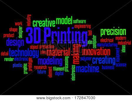 3D Printing, Word Cloud Concept 3