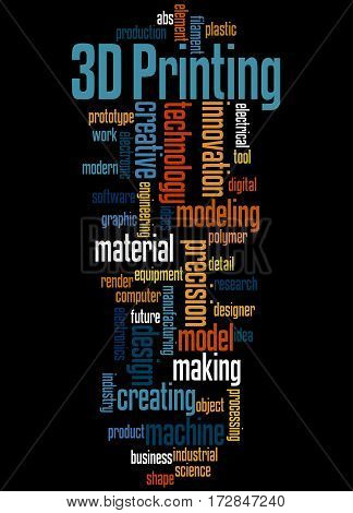 3D Printing, Word Cloud Concept 7
