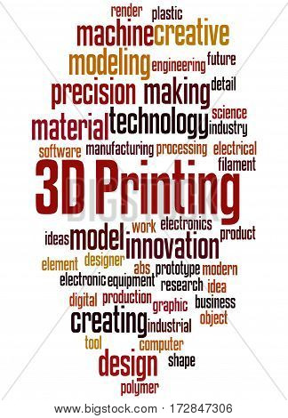 3D Printing, Word Cloud Concept 9