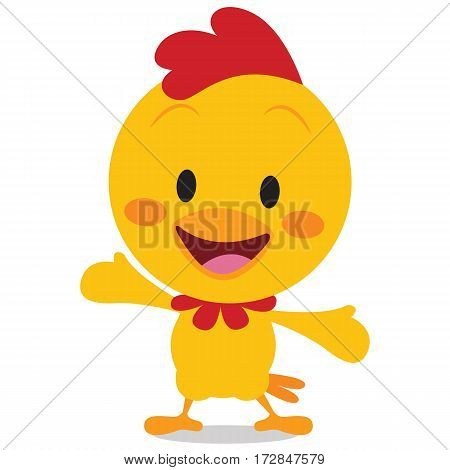 Happy chick vector art illustration collection stock