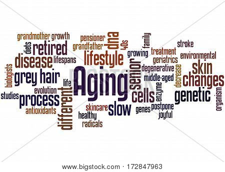 Aging, Word Cloud Concept
