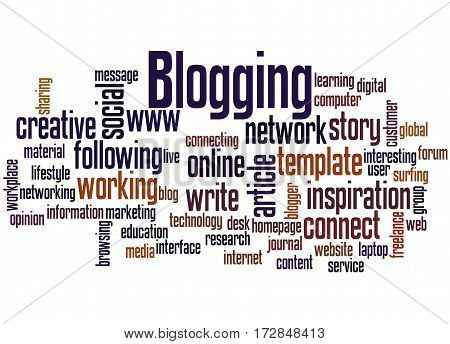 Blogging, Word Cloud Concept 3