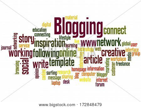 Blogging, Word Cloud Concept 5