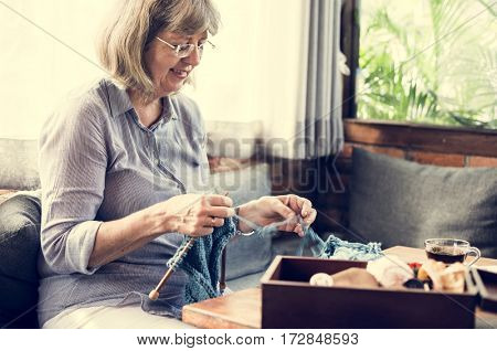 Knitting Chilling Rest Leisure Activity