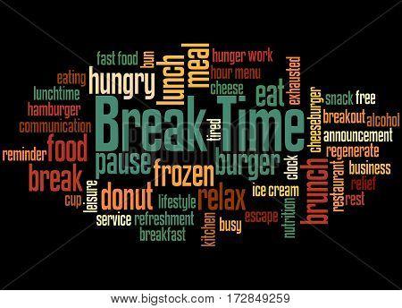 Break Time, Word Cloud Concept 5