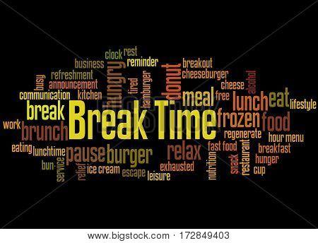 Break Time, Word Cloud Concept 9