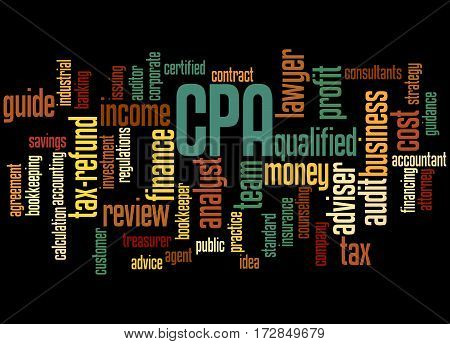 Cpa - Certified Public Accountant, Word Cloud Concept 4