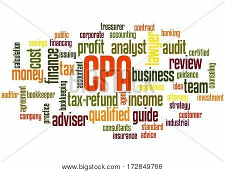 Cpa - Certified Public Accountant, Word Cloud Concept 6