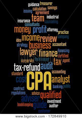 Cpa - Certified Public Accountant, Word Cloud Concept 9