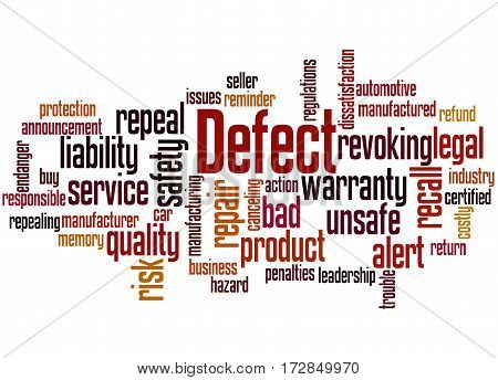 Defect, Word Cloud Concept