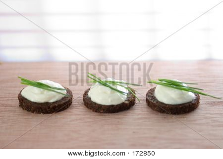 Bread With Cheese And Chive