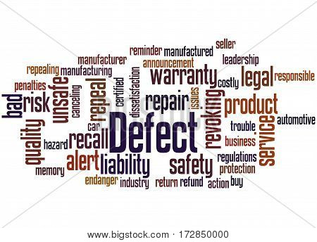 Defect, Word Cloud Concept 2