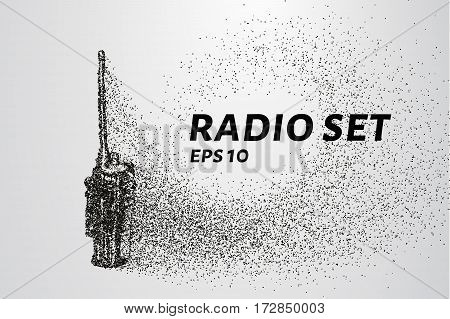 Radio Set Of The Particles. Radio Set Consists Of Circles And Points. Vector Illustration.