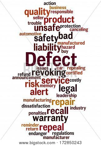 Defect, Word Cloud Concept 5