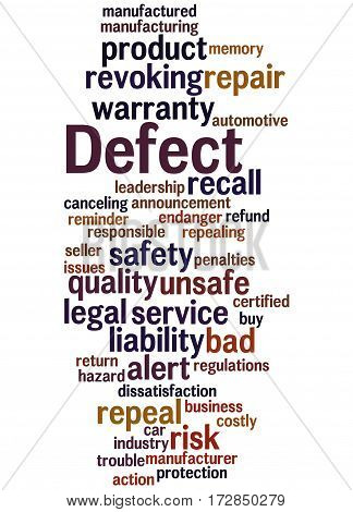 Defect, Word Cloud Concept 6
