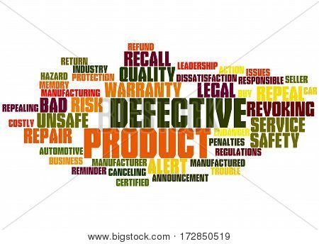 Defective Product, Word Cloud Concept 4