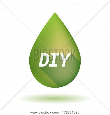 Isolated Olive Oil Drop With    The Text Diy