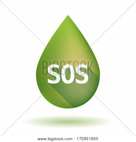 Isolated Olive Oil Drop With    The Text Sos