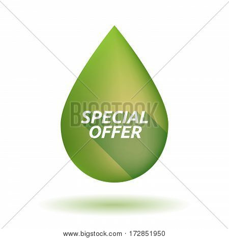 Isolated Olive Oil Drop With    The Text Sold