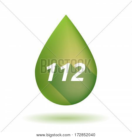 Isolated Olive Oil Drop With    The Text 112