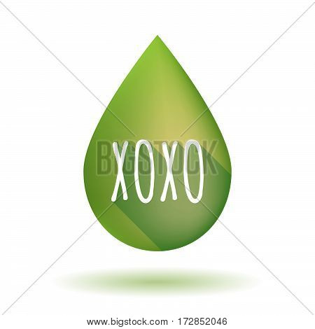 Isolated Olive Oil Drop With    The Text Xoxo