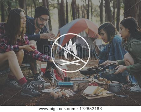 Camp fire word young people