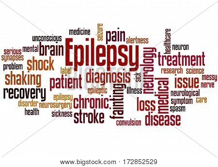 Epilepsy, Word Cloud Concept