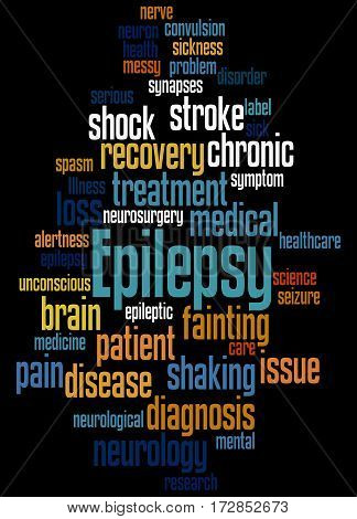 Epilepsy, Word Cloud Concept 3
