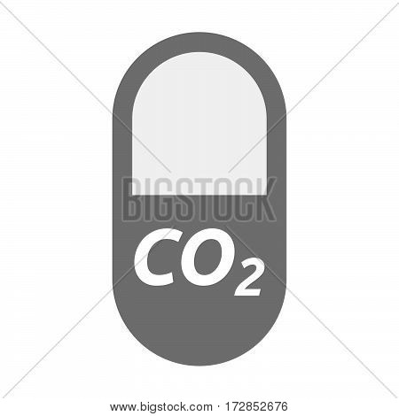 Isolated Pill With    The Text Co2