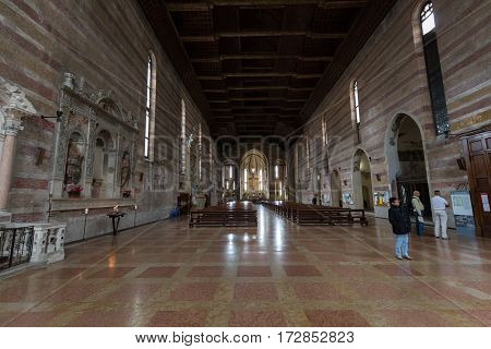 PADUA ITALY - MAY 3 2016: The Church of the Eremitani is an Augustinian church of the 13th century. Padua Italy