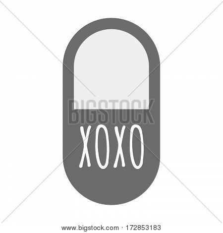 Isolated Pill With    The Text Xoxo