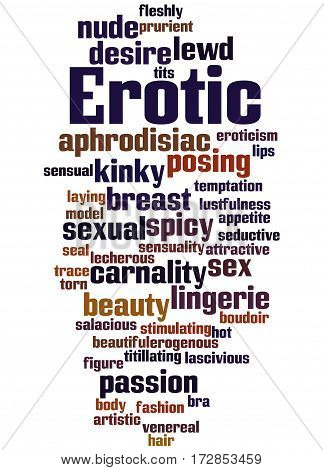 Erotic, Word Cloud Concept 4