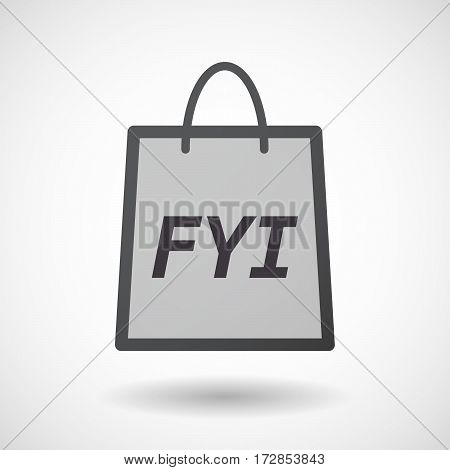 Isolated Shopping Bag With    The Text Fyi