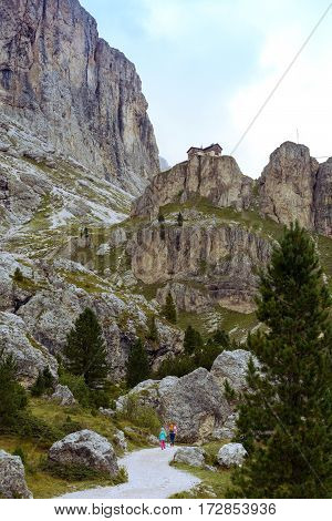 View Of The  Rifugio Vajolet