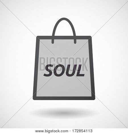 Isolated Shopping Bag With    The Text Soul