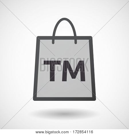Isolated Shopping Bag With    The Text Tm
