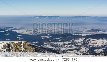 Smog Seen From The Peak In The Tatras.